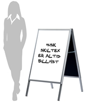 Alu-Sign Whiteboard Skilt - 60x80 cm