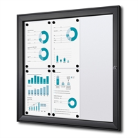 Sort BoardPro whiteboard opslagsskab