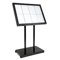 Black Star XL Weather Resistant LED menustand med lys