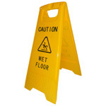 CAUTION WET FLOOR Skilt