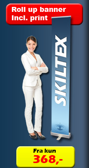 Skiltex Roll up med print