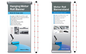 Motor roll banner displays
