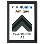 Fancy Retro klikramme med 40mm profil - A3