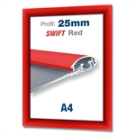 Rød Swift klikramme med 25mm profil - A4