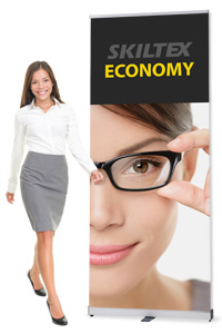 ECONOMY roll up bannere inkl. print
