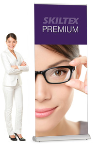 PREMIUM roll up banner inkl. print