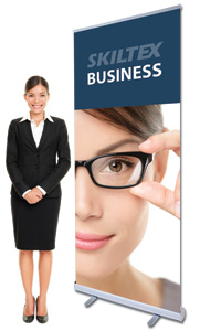 BUSINESS roll up banner med print