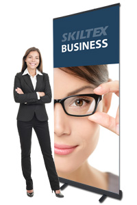 BUSINESS sort roll up banner inkl. print