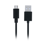 Micro USB kabel sort - 3m
