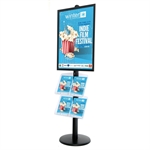 Sort ProStand 110 - Plakat display med brochureholder