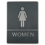 Braille toilet skilt med blindeskrift - WOMEN