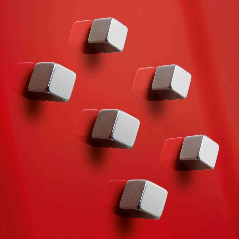Tidssvarende Superdym magneter til Glastavler - 6 stk | Køb her LA-11