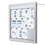 Premium LED Outdoor whiteboard skab med lys