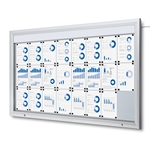 Premium LED Outdoor whiteboard skab med lys - 24xA4