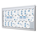 Premium LED Outdoor whiteboard skab med lys - 27xA4