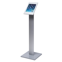 Sleek tablet / iPad holder til gulv - Hvid