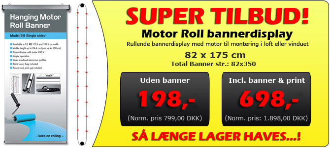 SUPER TILBUD - MOTOR ROLL DISPLAY